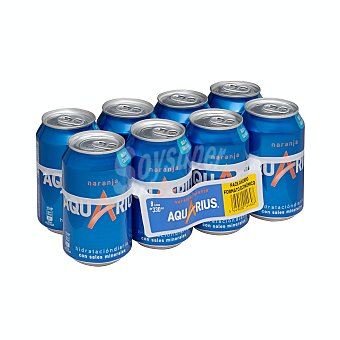 Aquarius Bebida isotonica naranja Lata pack 8 x 330 ml - 2640 ml