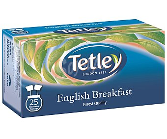Tetley Té english breakfast  Paquete 25 bolsitas