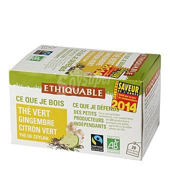 Ethiquable Té verde con jengibre y lima bolsitas 20 ud