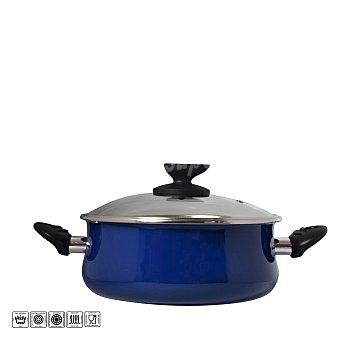 Magefesa Cacerola con tapa de acero esmaltado Mod Danubio 16 cm azul 1 ud