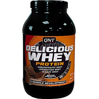 QNT Delicious Whey Protein 100% pure sabor chocolate Bote 1 kg