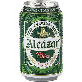 Alcázar Cerveza lata 33 cl