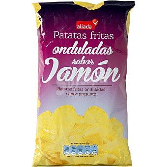 Aliada Patatas fritas onduladas sabor jamón Bolsa 150 g