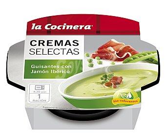 La Cocinera Cremas Selectas de guisantes con jamon iberico  estuche 230 g