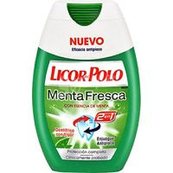 Licor del Polo Dentrífico de menta 2en1 Pack 2x75 ml