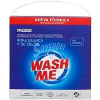 EROSKI Detergente en polvo ropa blanca y de color 40 dosis