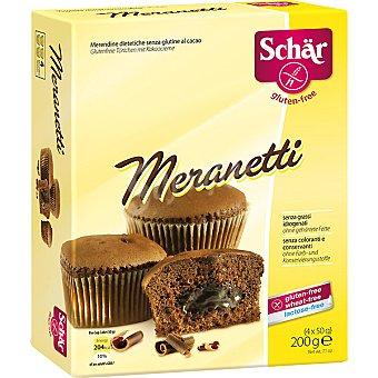 SCHAR Meranetti Bizcocho al cacao sin gluten Envase 200 g