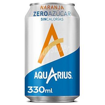 Aquarius Zero bebida refrescante aromatizada naranja Lata 33 cl