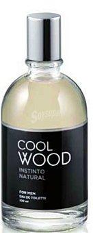 COOL WOOD Eau toilette hombre aroma instinto natural con vaporizador (blanco) Botella 100 cc