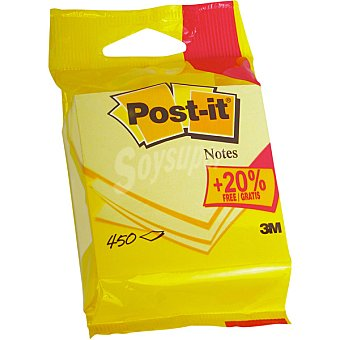 Post-It Notas amarillas 450 hojas