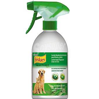 Friskies Purina Loción Nature Protect repelente de insectos para perros y gatos spray 450 ml Spray de 450 ml