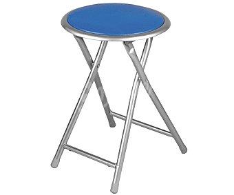 Productos Económicos Alcampo Taburete plegable color azul, medidas: 30x30x44,5 centímetros y tubo de 19 milímetros 1 unidad