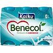 yogur líquido natural pack 6 unds. 65 ml Kaiku Benecol