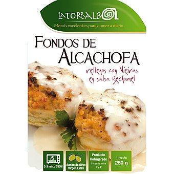 La Torralba Alcachofas rellenas con vieiras refrigeradas Envase 250 g