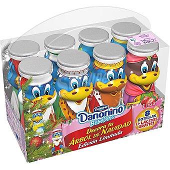 Danonino Danone Bebedino petit líquido sabor fresa Edición Navidad ... pack 8
