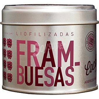 Cocktelea Frambuesas enteras liofilizadas 100% natural aderezo para cocktelería Tarro de 15 g