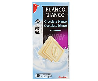 Auchan Chocolate blanco 200 gramos