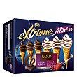 Mini conos con helado de chocolate, nata y frutos rojos Extrême 6 ud Helados Nestlé