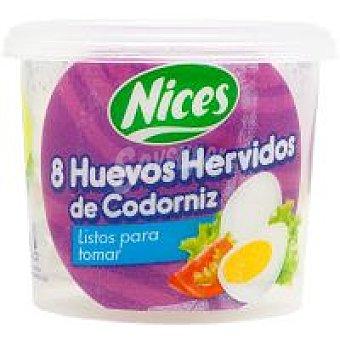 Nices Huevos de codorníz hervidos-pel. 8 unid