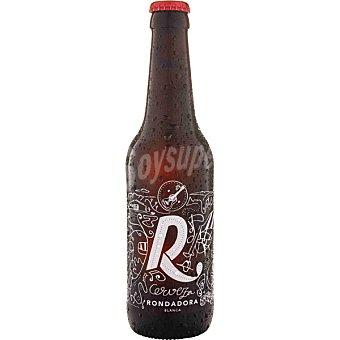 RONDADORA Blanca cerveza rubia artesana de trigo estilo American Wheat con 4 maltas y 4 lúpulos botella 33 cl botella 33 cl