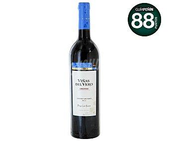Viñas del Vero Vino tinto cabernet sauvignon con denominación de origen Somontano Botella de 75 centilitros