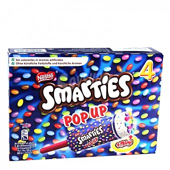 Smarties Nestlé Mini helado Pop Up 4 ud 4 ud