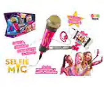 IMC TOYS SelfieMic rosa Micrófono color rosa con alargador para selfies y app gratis con miles de canciones TOYS.