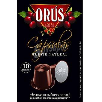 Orus Café tueste natural ápsulas estuche 55 g 10 c