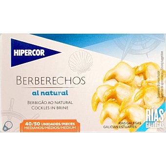 Hipercor Berberechos al natural de las rías gallegas 40-50 piezas lata 63 g neto escurrido Lata 63 g neto escurrido