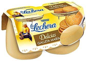 LA LECHERA Postre lacteo sabor galleta maria  pack 2 unidades 125 g