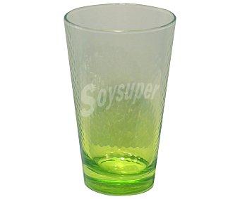 PASABAHCE Vaso de refrescos y agua modelo Petek, con capacidad de 40 centílitros, color verde efecto degradado 1 Unidad