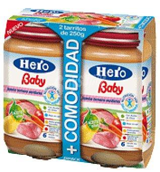 Hero Baby Tarrito de Ternera y Verduras Pack de 2x250 g
