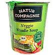 Sopa de vegetales y pasta Bio ecológica sin aceite de palma Vaso 50 g Natur Compagnie