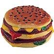 Juguete de vinilo para perro con forma de hamburguesa 1 unidad BIOZOO AXIS