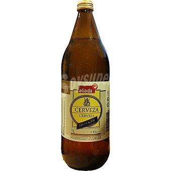 Aliada Cerveza rubia nacional Botella 1 l
