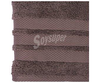 Actuel Toalla para lavabo 100% algodón color marrón taupe, densidad de 500 gramos/metro², 50x100 centímetros 1 unidad