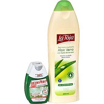 Licor del polo Dentífrico con elixir Blanqueador Avanzado pack 2 bote 75 ml + gel crema de ducha Aloe Vera con sales minerales La Toja Pack 2 bote 75 ml