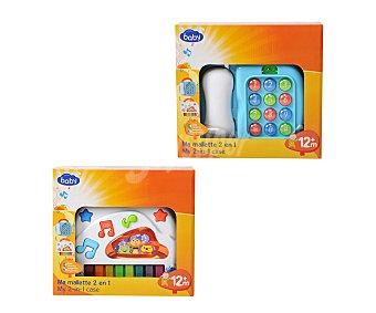 Baby Auchan Juguete 2 en 1, teléfono y piano con luces sonidos y melodías 1 unidad