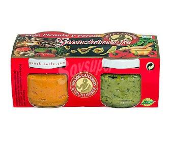 Guachinerfe Mojos rojo picante y perejil pack 2 uds. x 150 g