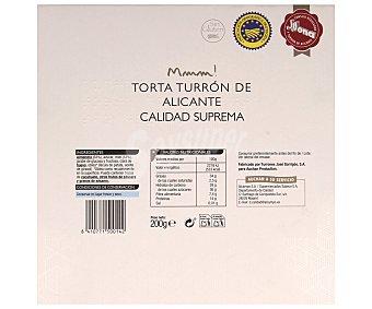 Auchan Torta de turrón duro de Alicante 200 gramos
