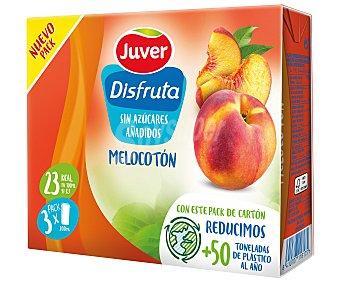 Juver Disfruta Néctar de melocotón Pack 3 uds x 20 cl