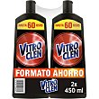 Limpia vitrocerámica Power Cream 3 en 1 pack 2 botella 450 ml formato ahorro pack 2 botella 450 ml Vitro Clen
