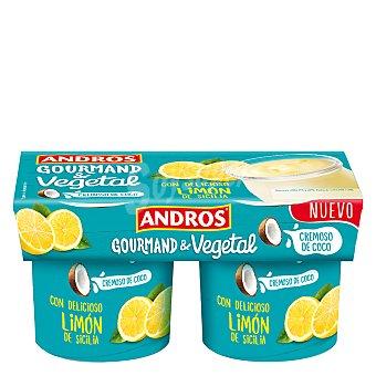 Andros Preparado de coco cremoso con limón Pack de 2 unidades de 120 g
