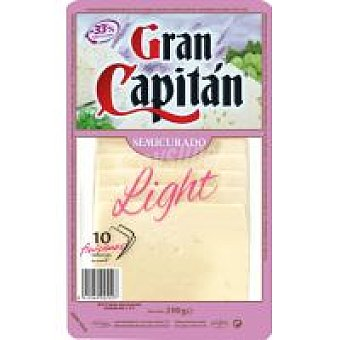 Gran Capitán Queso semi light Bandeja 200 g