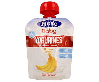 HERO BABY YOGURINES Mi primer yogurin sabor platano desde 6 meses formato bolsita 80 g