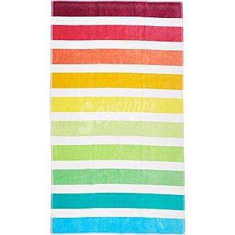 Casactual Rayas toalla de playa Jacquard multicolor 95 x 160 cm