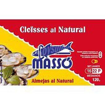 Massó Almeja al natural 16/22 piezas Lata 125 g