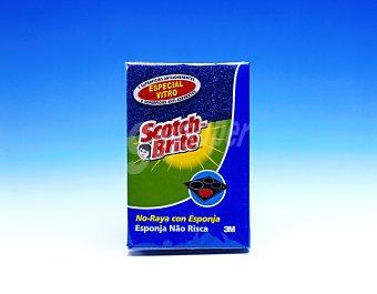 Scotch Brite Estropajo con esponja no raya tamaño grande especial vitrocerámica Envase 1 unidad