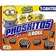 & Roll bizcochitos de cacao rellenos de leche y chocolate 8 unidades Estuche 112 g Phoskitos