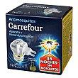 Insecticida eléctrico líquido y pastillas antimosquitos Aparato + recambio Carrefour